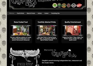 Community bar website design
